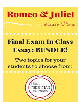 Romeo and Juilet In Class Essay BUNDLE!