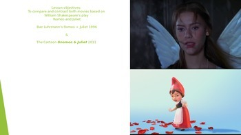 Romeo and Juilet versus Gnomeo and Juilet