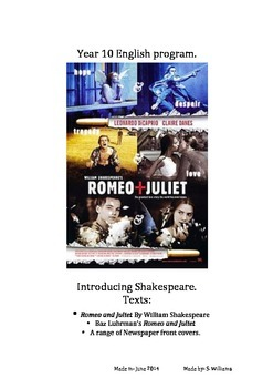 Romeo and Juliet 10 Week Program