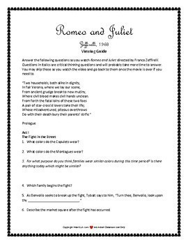 Romeo and Juliet  Movie Guide 1968 Zeffirelli