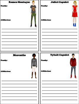 Romeo and Juliet Activity: Interactive Notebook Foldable