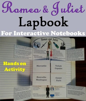 Romeo and Juliet Interactive Notebook Lapbook/ Foldable (F