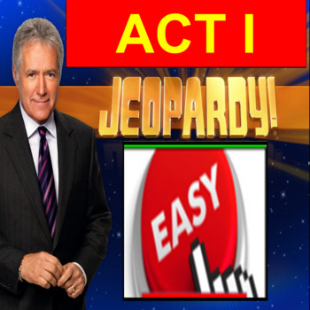 Romeo and Juliet Act 1: Jeopardy PowerPoint