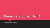 Romeo and Juliet Act 1 Journal Bell-Ringer Prompts