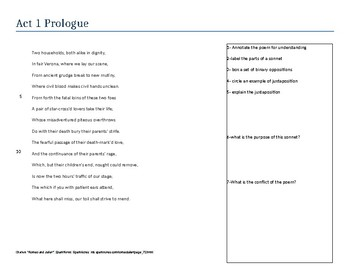 Romeo and Juliet - Act 1 Prologue
