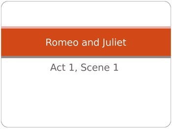 Romeo and Juliet- Act 1, Scene 1 Guided Notes Powerpoint