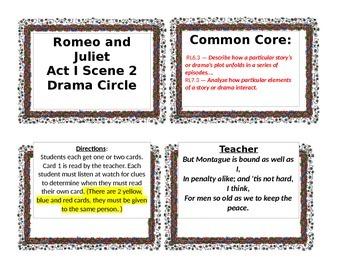 Romeo and Juliet Act 1 Scene 2 Drama Circle