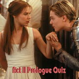 Romeo and Juliet - Act 2 Prologue Quiz - Understanding Shakespearean Sonnets