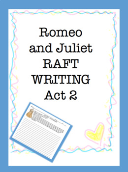 RAFT Writing: Romeo and Juliet Act 2 Only
