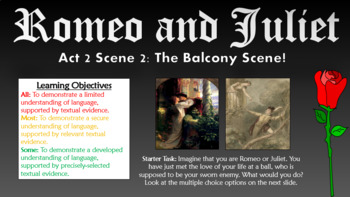Romeo and Juliet: Act 2 Scene 2 - The Balcony Scene!