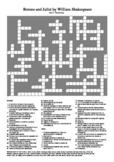 Romeo and Juliet - Act 2 Vocabulary Crossword
