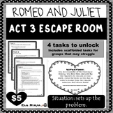 Romeo and Juliet Act 3 Escape Room/ Breakout Box