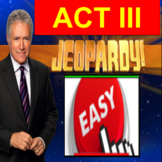 Romeo and Juliet Act 3: Jeopardy PowerPoint