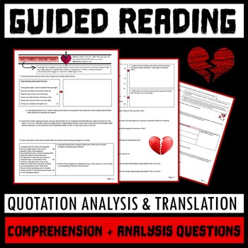 Romeo and Juliet Act 3 Guided Reading Packet