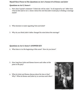 Romeo and Juliet Act 3 Questions and Answers | Quiz with Answer Key