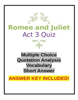Romeo and Juliet Act 3 Quiz