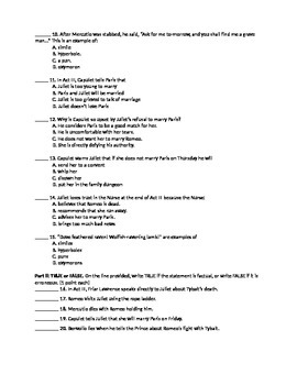 Romeo and Juliet- Act 3 Qui... by Classroom Quips and Tips ...
