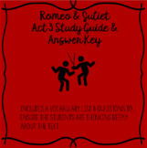Romeo and Juliet Act 3 Study Guide and Answer Key