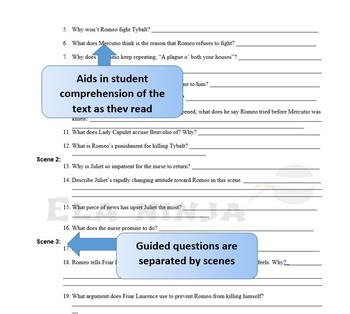 Romeo and Juliet Act 3 Vocabulary, Literary Terms, and Guided Reading Questions
