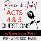 Romeo and Juliet  Act 4-5; 45 fill-in-the-blank TEST OR ST