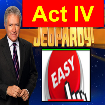 Romeo and Juliet Act 4: Jeopardy Power Point