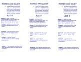 Romeo and Juliet- Act 4 Summary Bookmark