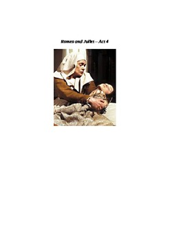 Romeo and Juliet - Act 4 Summary with Two Active Learning Tasks