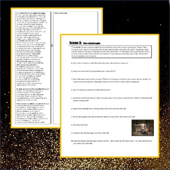 Romeo and Juliet Act 5 Guided Reading Packet