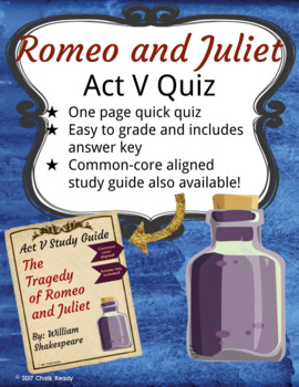 Romeo and Juliet Act 5 Quiz