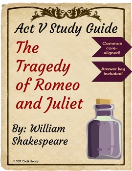 Romeo and Juliet Act 5 Study Guide