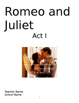 Romeo and Juliet Act I packet