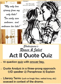 Romeo and Juliet - Act II Quote Quiz