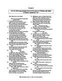 Romeo and Juliet Act II Scene ii English skills worksheet
