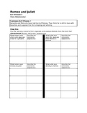 Romeo and Juliet Act II Worksheet (Including Informational