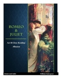 Romeo and Juliet Act III Close Reading Activity ~ Allusions