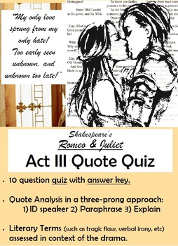 Romeo and Juliet - Act III Quote Quiz