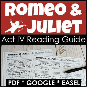 Romeo and Juliet Act IV Reading Guide {Study Guide}
