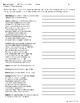 Romeo and Juliet Act One Packet: Prologue, Vocab, Critical Thinking ?s {CCSS}