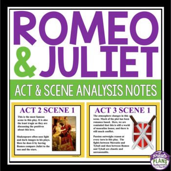 ROMEO AND JULIET: ANALYSIS NOTES PRESENTATION