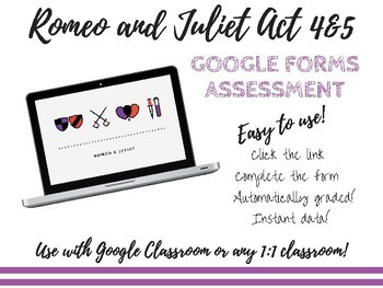Romeo and Juliet Acts 4&5 Google Form Assessment