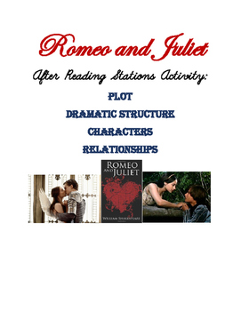 Romeo and Juliet After Reading Stations Activity