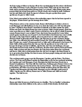 Romeo and Juliet Comprehensive Play Synopsis