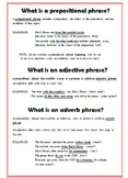 Adverb and Adjective Phrases Writer's Notebook Entry