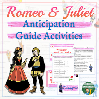 Romeo and Juliet Interactive Anticipation Guide Activity