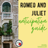 Romeo and Juliet Anticipation Guide (Print + Google Slides