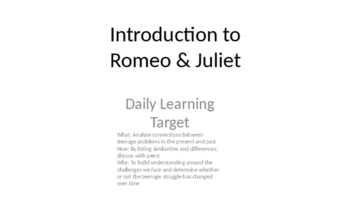 Romeo and Juliet Anticipation Guide with Philosophical Chairs