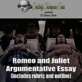 Romeo and Juliet Argumentative Essay Prompt (Includes Rubr