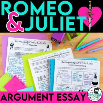 romeo and juliet argument essay by the daring english teacher  tpt