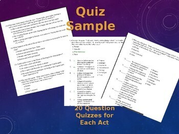 Romeo and Juliet Assessment BUNDLE 20+ Tests (SBAC, ACT, SAT Style Q's)
