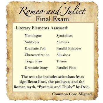 Romeo and Juliet Assessment Bundle